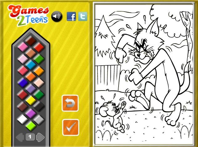 Kolorowanki Tom I Jerry Dla Dzieci